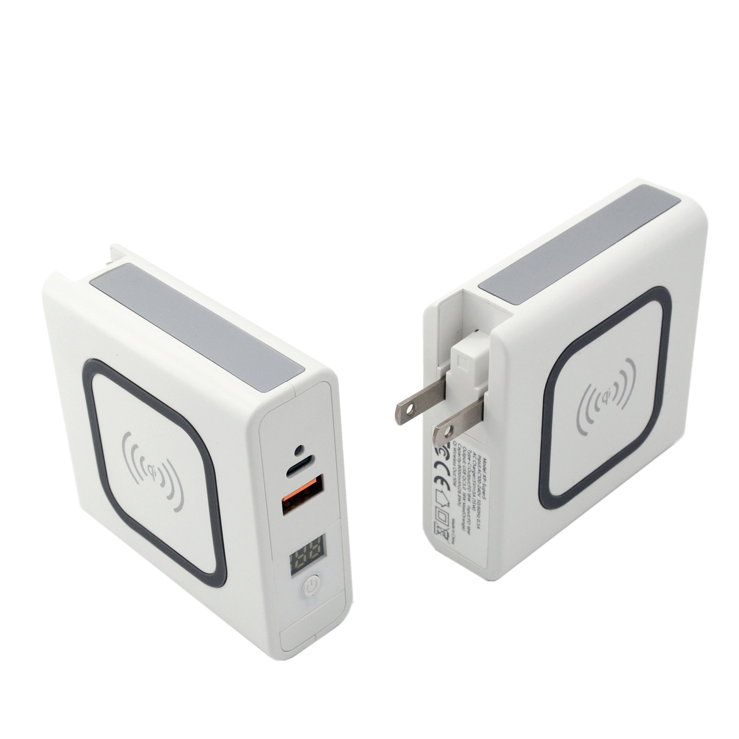 Multi USB Tablet PC 10W Power Bank With Built In Wall Plug