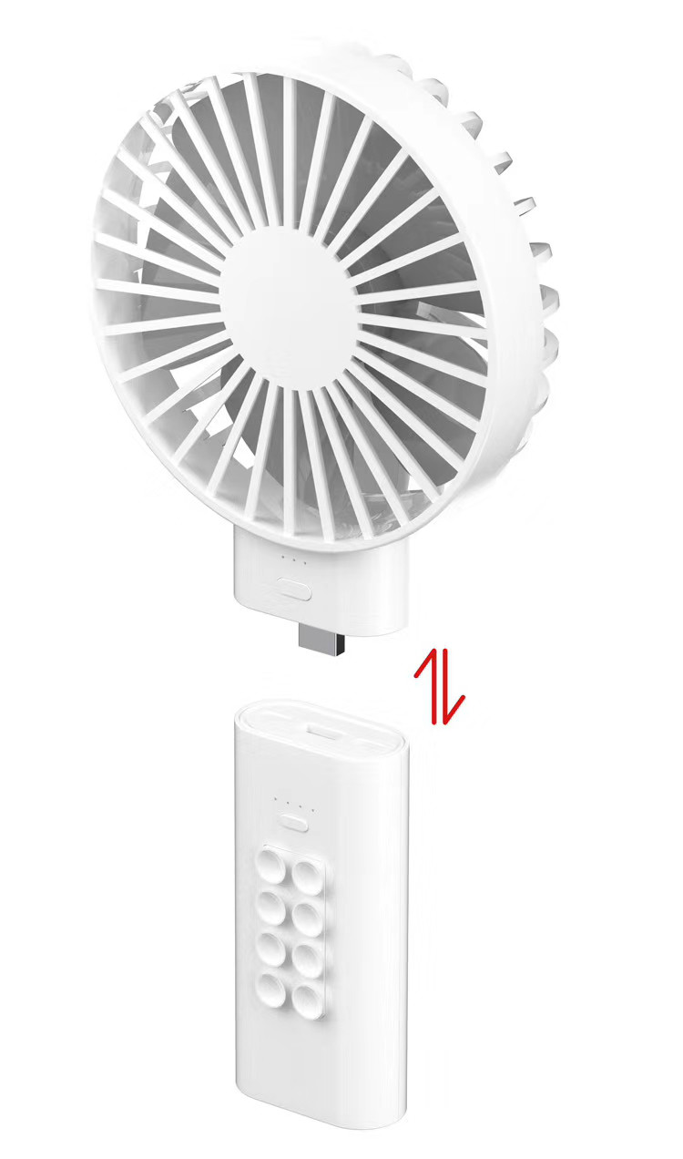 Portable Personal Cooling Fan With Rechargeable Battery